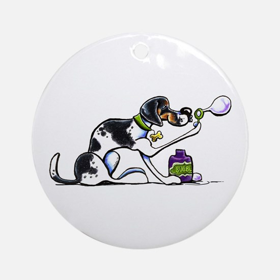 Foxhound Bubbles Ornament (Round)
