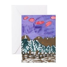 Winter Trees Greeting Card With Arc Message