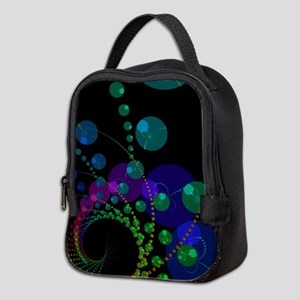Abstract Dance of the Spheres Neoprene Lunch Bag