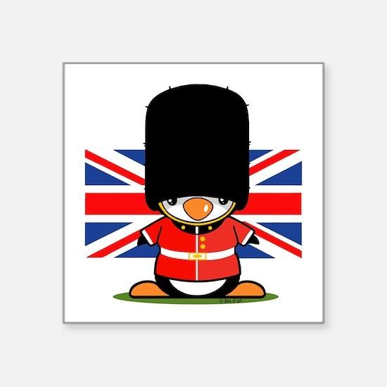 British Soldier Penguin Square Sticker 3&Quot; X 3