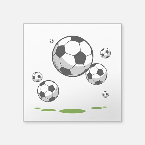 "Soccer Square Sticker 3"" x 3"""