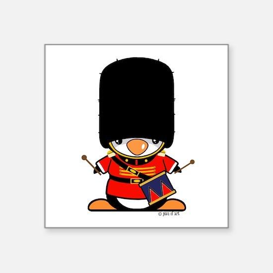 """Nutcracker Penguin Square Sticker 3"""" x 3"""""""