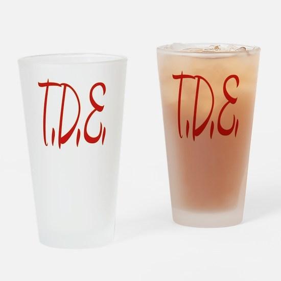 T.D.E. Drinking Glass