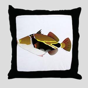 Reef Triggerfish Humuhumu Throw Pillow