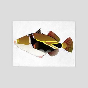 Reef Triggerfish Humuhumu 5'x7'Area Rug