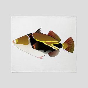Reef Triggerfish Humuhumu Throw Blanket