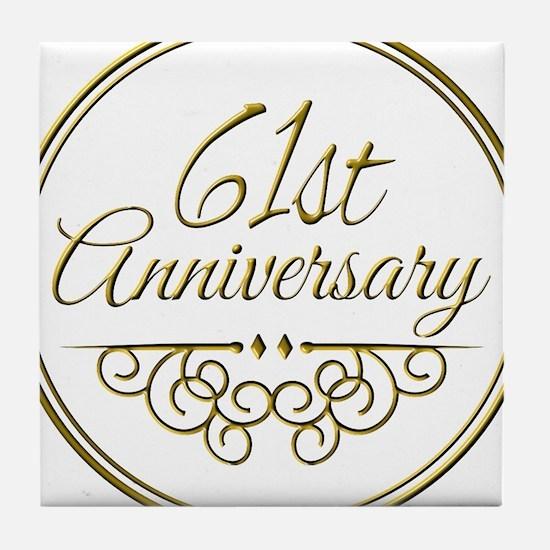 61st Anniversary Tile Coaster