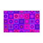 Pink and Purple Flower Pattern Wall Decal