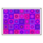 Pink and Purple Flower Pattern Banner