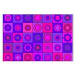 Pink and Purple Flower Pattern Posters
