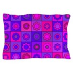 Pink and Purple Flower Pattern Pillow Case
