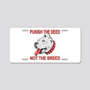 Punish The Deed Aluminum License Plate
