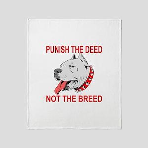 Punish The Deed Throw Blanket