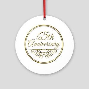 65th Anniversary Ornament Round