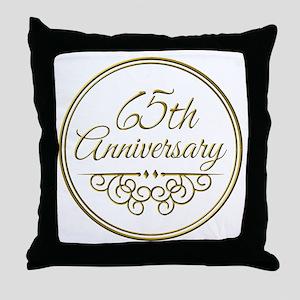 65th Anniversary Throw Pillow