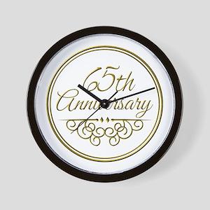 65th Anniversary Wall Clock
