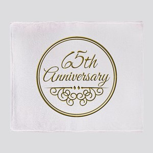 65th Anniversary Throw Blanket