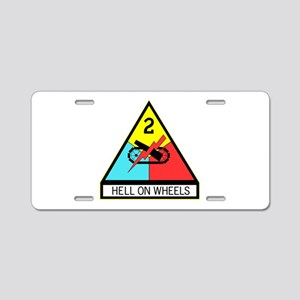 Army Hell On Wheels Aluminum License Plate