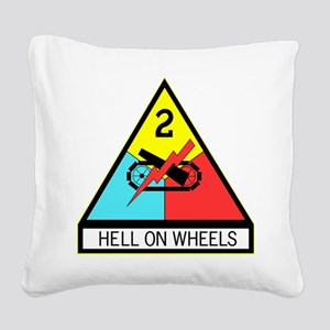 Army Hell On Wheels Square Canvas Pillow