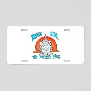 Dive In Shark Aluminum License Plate