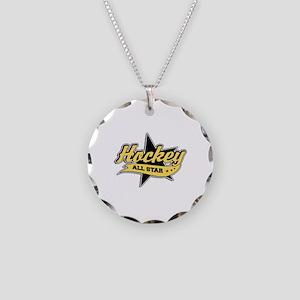 Hockey All Star Necklace Circle Charm