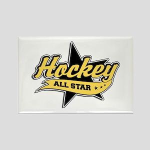 Hockey All Star Rectangle Magnet