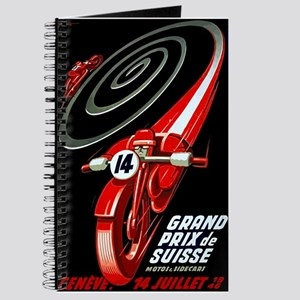 1946 Swiss Grand Prix Motorcycle Race Poster Journ