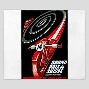 1946 Swiss Grand Prix Motorcycle Race Poster King