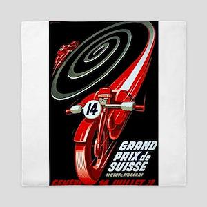1946 Swiss Grand Prix Motorcycle Race Poster Queen
