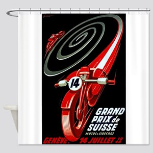 1946 Swiss Grand Prix Motorcycle Race Poster Showe