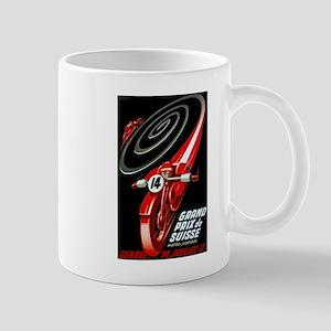 1946 Swiss Grand Prix Motorcycle Race Poster Mugs