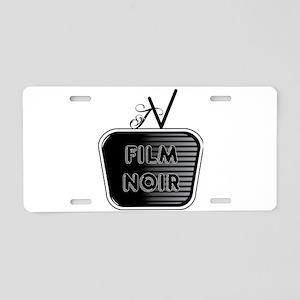 Film Noir Aluminum License Plate