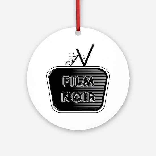 Film Noir Round Ornament