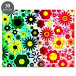 Red Green Flowers Pattern Puzzle