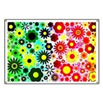 Red Green Flowers Pattern Banner