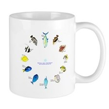 Pacific and Indian Ocean Reef Fish Clock 2 Mugs