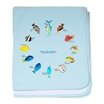 Pacific and Indian Ocean Reef Fish Clock 2 baby bl