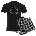 Pacific and Indian Ocean Reef Fish Clock 2 Pajamas
