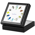 Pacific and Indian Ocean Reef Fish Clock 2 Keepsak