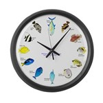 Pacific and Indian Ocean Reef Fish Clock 2 Large W