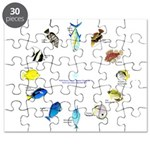 Pacific and Indian Ocean Reef Fish Clock 2 Puzzle
