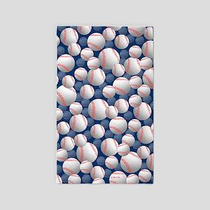 Baseball 3'x5' Area Rug