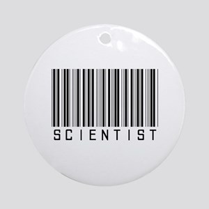 Barcode Science Geek Ornament (Round)