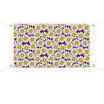 Purple Smiley Daisy Flower Pattern Banner