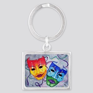 Comedy and Tragedy  Landscape Keychain