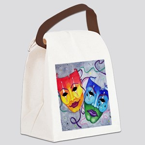 Comedy and Tragedy  Canvas Lunch Bag