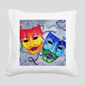 Comedy and Tragedy  Square Canvas Pillow