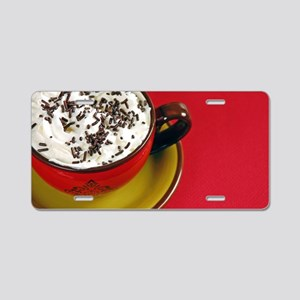 Cup of cocoa Aluminum License Plate