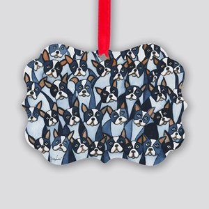 Many Boston Terriers Picture Ornament