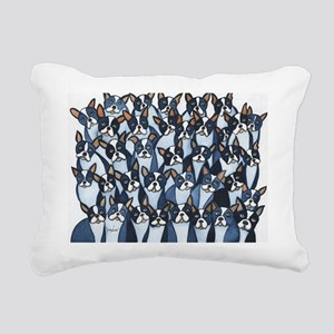 Many Boston Terriers Rectangular Canvas Pillow